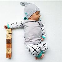 3PCS Set Newborn Kids Baby Boys Girls Outfits Clothes Set T Shirt Tops Casual Long Sleeve