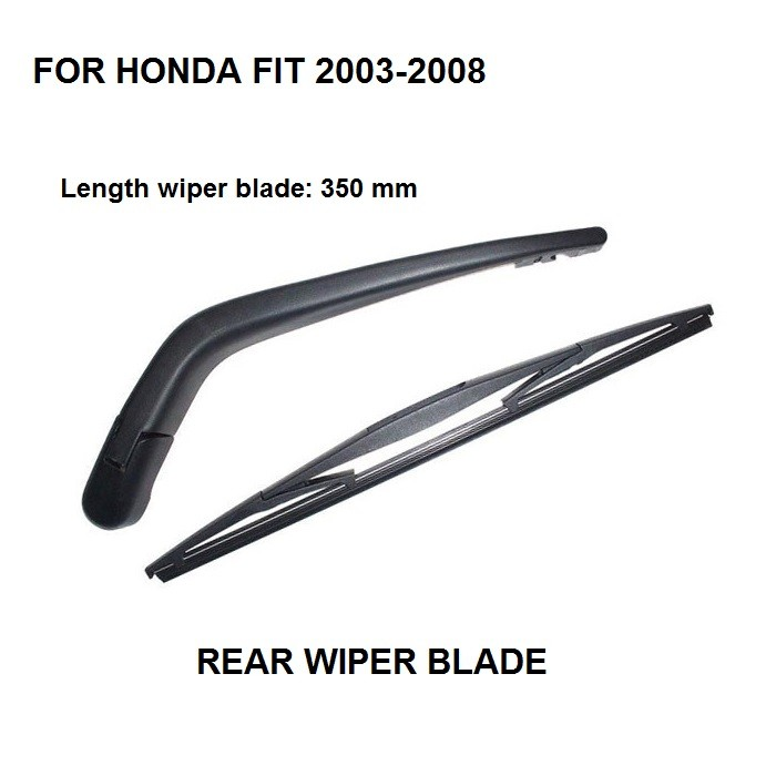 Wiper Blade Sizes >> Us 10 88 03 08 Car Rear Window Wiper Blade Arm Complete Set For Honda Fit Blade Sizes 350mm In Windscreen Wipers From Automobiles Motorcycles On