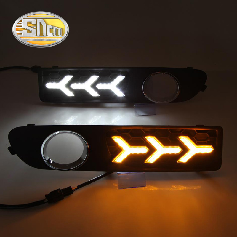 For Volvo S80 2009 - 2012 2013,Turn Yellow Signal Relay Waterproof ABS Car LED DRL 12V LED Daytime Running Light Daylight SNCN super dimmable waterproof abs matte grid cover abs 12v car drl led daytime running light for bmw e70 x5 2011 2012 2013