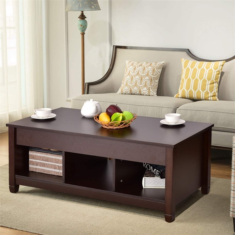Us 151 85 45 Off Lift Top Coffee Table With Hidden Storage Compartment Modern Living Room Furniture Hw55643cf In Tables From