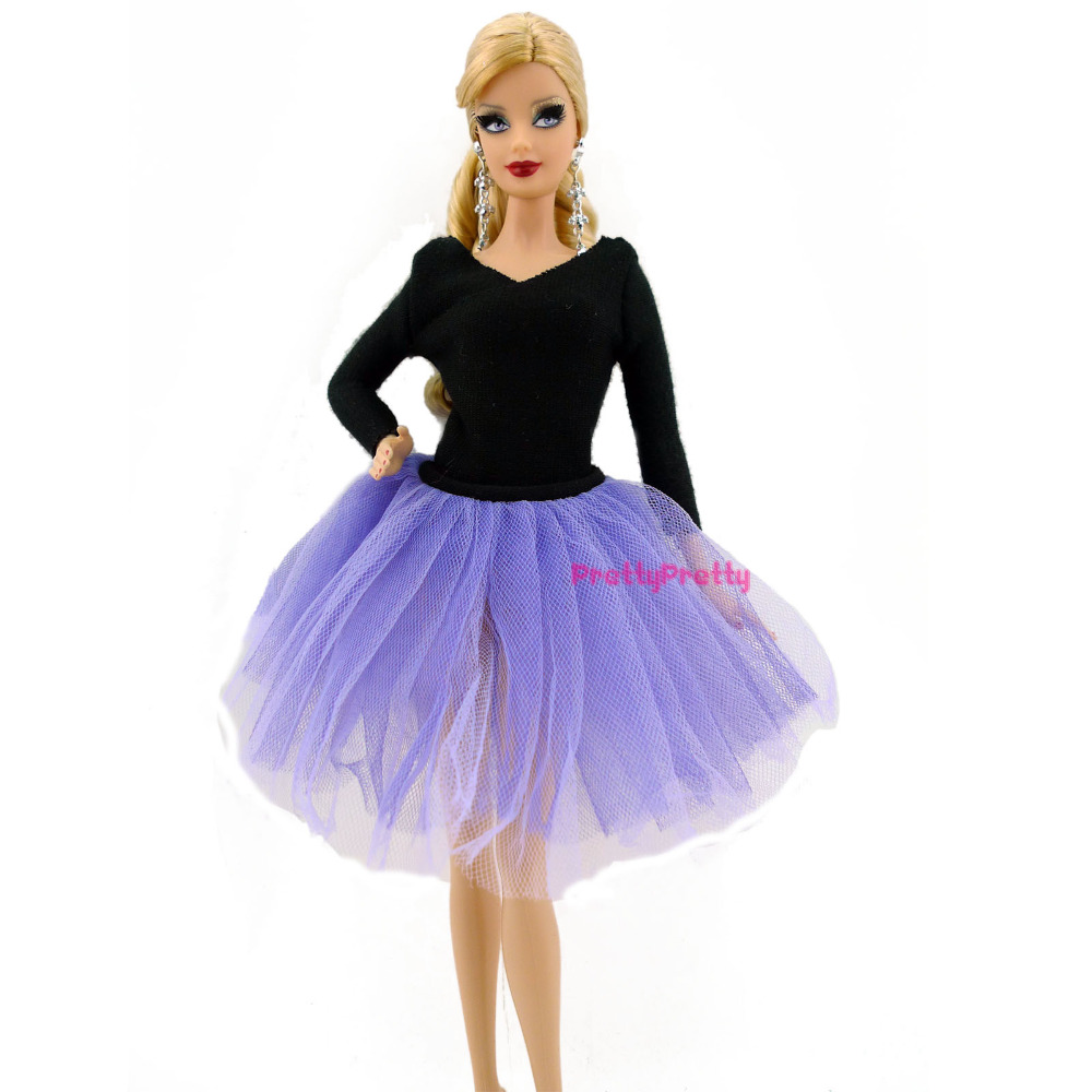 Fairy tale dress princess gown skirt for barbie doll christmas