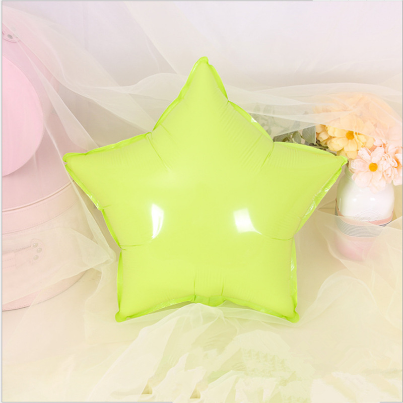 1pc 18inch Heart Star Shape Foil Balloon Macaron Color Helium Balloon for Wedding Decoration Birthday Party Decor Kids Air Balls in Ballons Accessories from Home Garden
