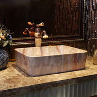 new arrival luxurious art Marble pattern basin countertop wash basins ceramic bathroom washbasin free shipping