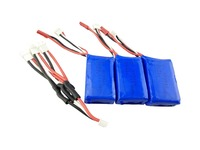 High Quality 3PCS 7 4V 1100mAh Battery 3 In 1 Charger For WLtoys A959 A969 A979