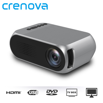 CRENOVA Video Projector For Full HD 1920*1080P With USB HDMI AV For Home Theater Movie Beamer For Smart Phone Led Projector