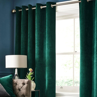 Nordic Solid Color Velvet Curtains for Living Room Blackout Italian Flannel Flannelette Curtain For Bedroom Window Drapes 1 PC