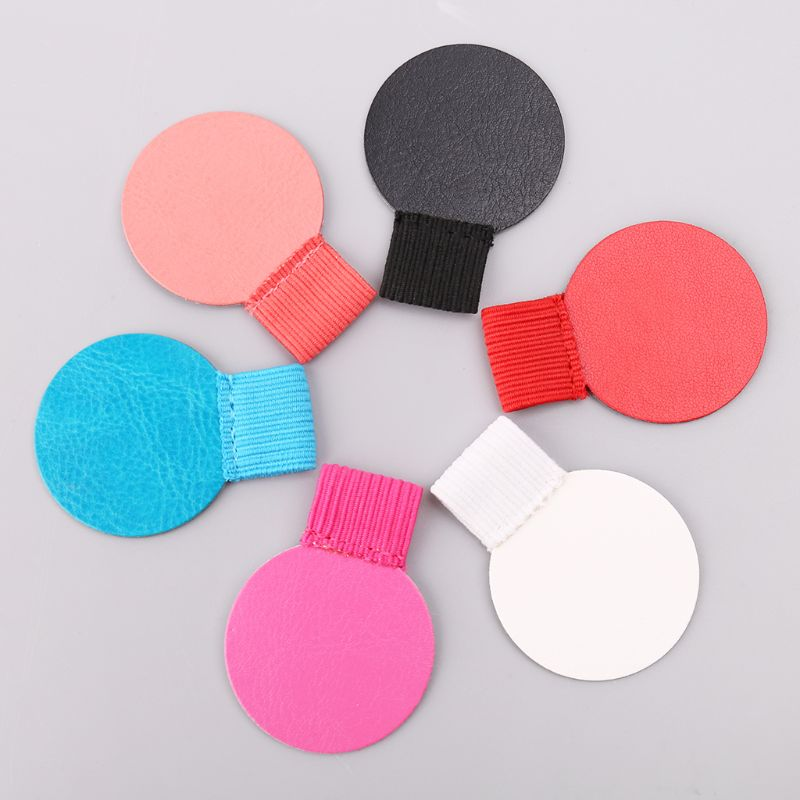 3pcs Round Self-adhesive Leather Pen Clip Pencil Elastic Loop For Notebooks Journals Clipboards Pens Holder
