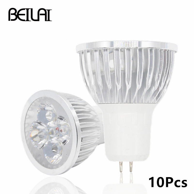 BEILAI 10pcs GU5.3 Dimmable LED Lamp 220V 110V GU 5.3 Lampada LED Spotlight 3W 4W 5W Spot Luz Bombillas LED Bulbs Lighting