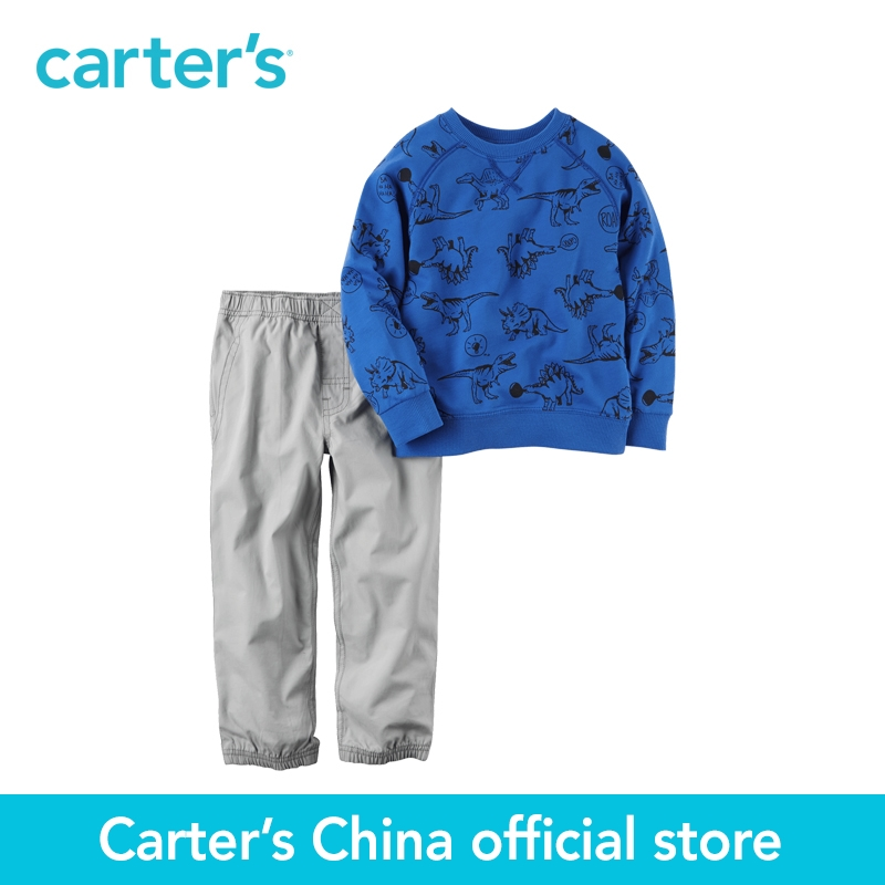 Carter s 2pcs baby children kids French Terry Top Poplin Jogger Set 249G390 sold by Carter