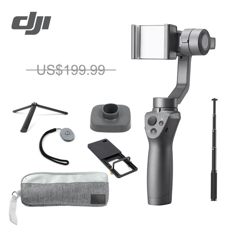 DJI Осмо мобильный 2 3 оси Ручной Стабилизатор для смартфона 3 оси ручной карданный стент регулятор масштабирования панорама