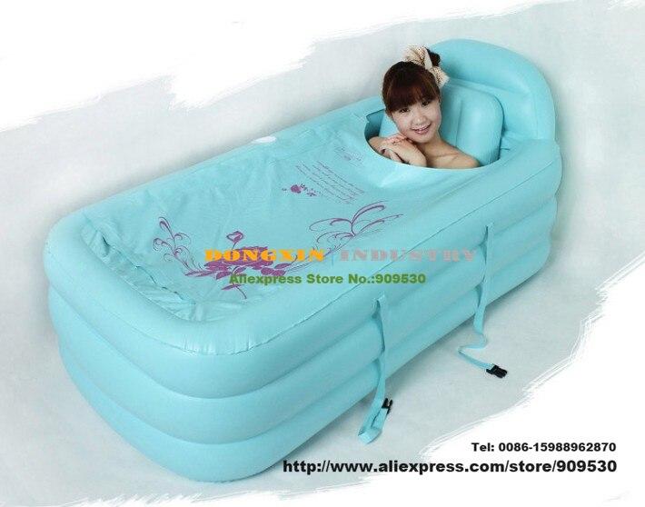 Free ship Portable bath adult bathtub plastic inflatable bath tub ...