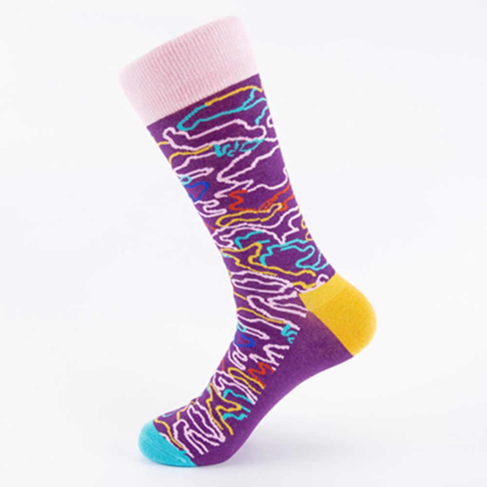 9f27cd36bdc9 Men Socks Cotton Colorful Happy Life Unisex Socks Long Winter Warm Funny  Novelty Crazy Socks Creative Fun Funky Sox Gift Ne79020