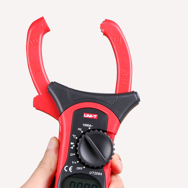 UNI-T UT206A Auto Range 1000A LCD Backlight Digital Clamp  Multitester w/ Frequency Duty Cycle Test Multimeter my68 handheld auto range digital multimeter dmm w capacitance frequency