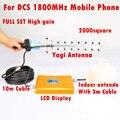 LCD GSM Repetidor 1800 mhz Repetidor De Celular 1800 mhz 65dB 4G LTE Telefone Celular Amplificador de Sinal De Reforço Com Antena Completo conjuntos