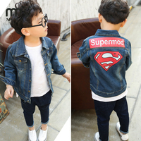 MMIW2017 High Quality Denim Jacket For Boys Girls Fashion For Print Superman Children Oxford Cool Wild