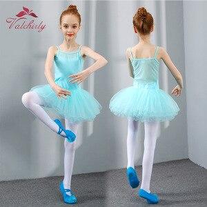 Image 4 - New Ballet Tutu Dress Girls Dance Clothing Kids Training Soft Skirt Costumes Gymnastics Leotards Wear