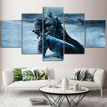Modular Canvas Pictures Prints Poster Fallen King Of Lich World Of Warcraft Game Painting Home Decor Living Room Wall Art Frame цена
