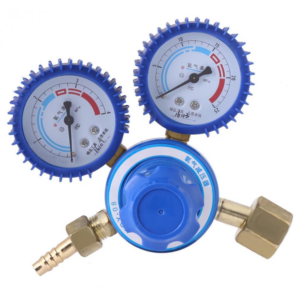 Brass Regulator Oxygen Pressure Reducer Dual Gauge 0-25MPa 0-4MPa Welding Cutting Pressure Regulator