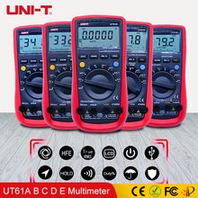 цены UNI-T UT61A UT61B UT61C UT61D UT61E Digital Multimeter True rms Auto Range AC DC Meter LCD Backlight Display Monitors