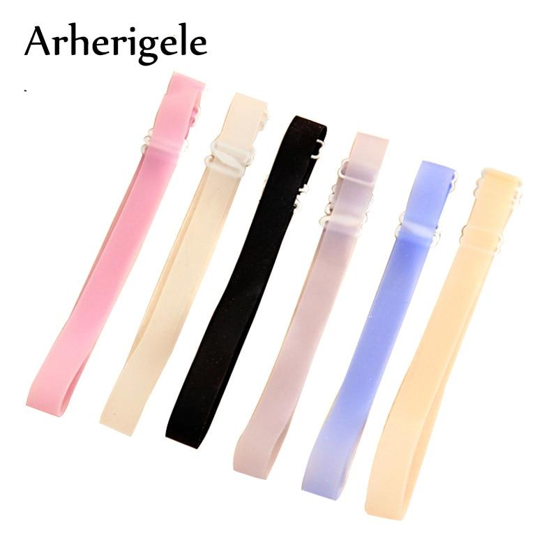 Arherigele 3pairs Silicone Bra Strap Adjustable Invisible Shoulder Straps Underwear for Women Transparent Bra Straps Accessories