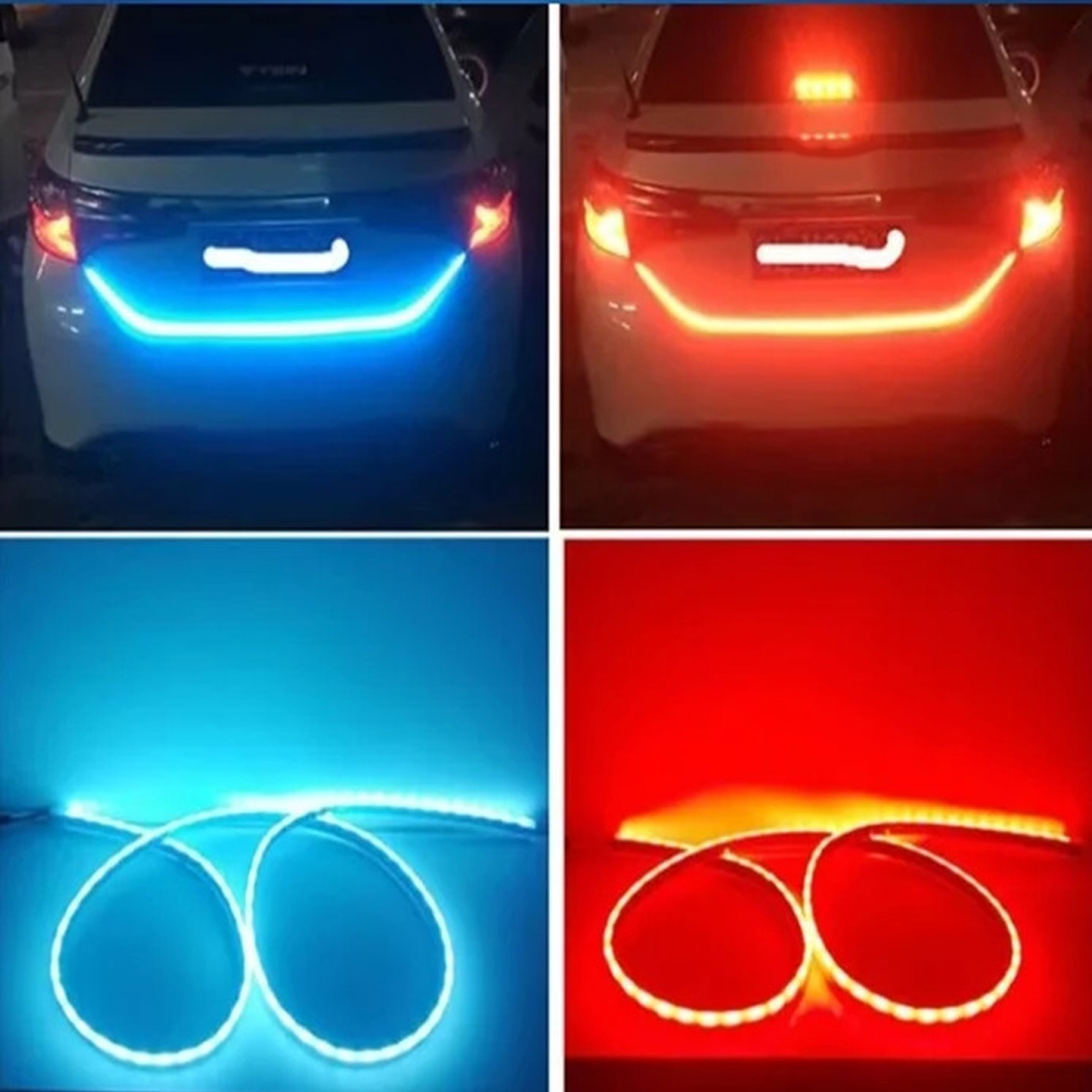 Tonewan Car Styling RGB Undercarriage Floating Led Dynamic Streamer Turn Signal Tail LED Warning Luggage Compartment Light
