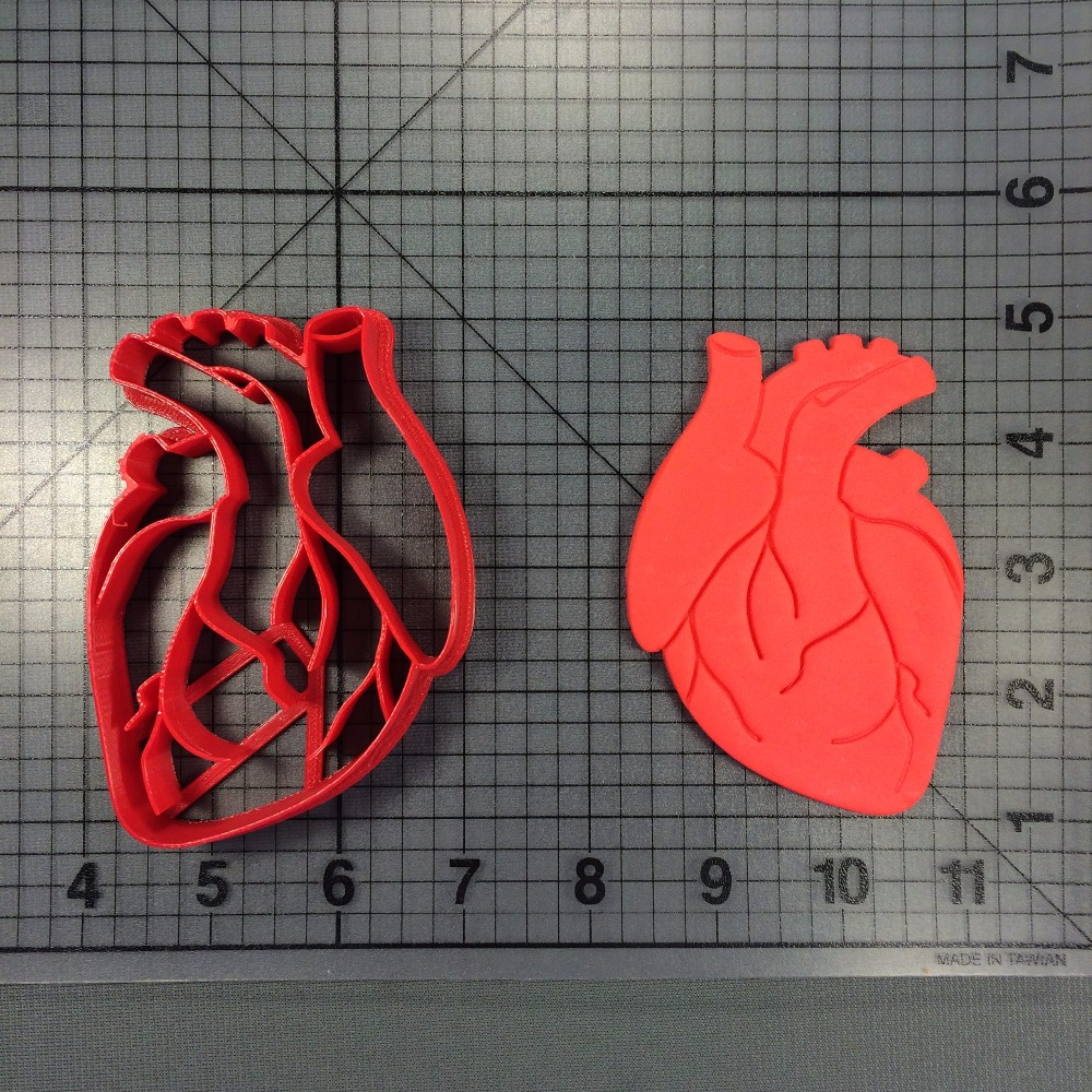 Anatomical Heart Cookie Cutter Set Custom Made 3D Printed Cutters Biscuit Press Fondant Cake Decorating Tools Cake Cutters