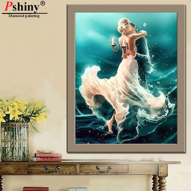 Pshiny 3D DIY алмаз кескіндеме теңіз - Өнер, қолөнер және тігін - фото 3