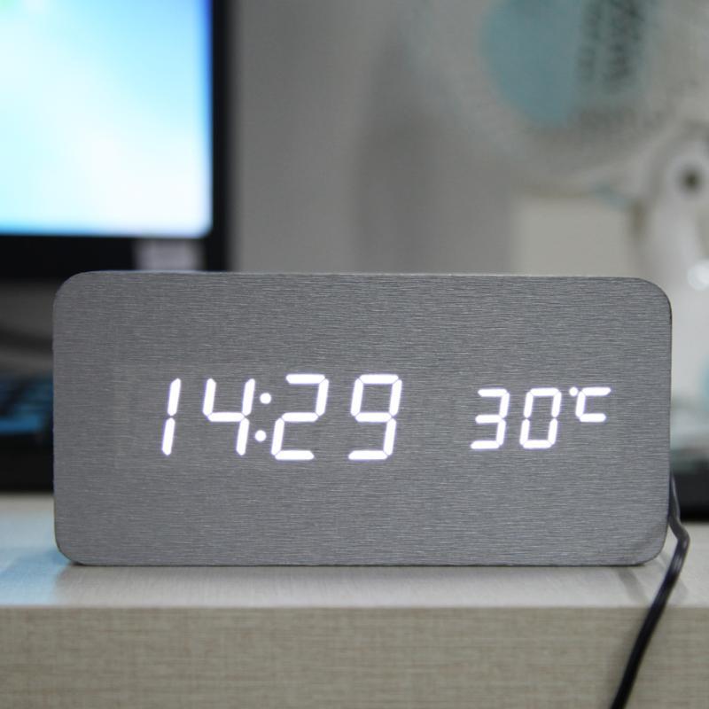 New Home decor Digital Alarm Clock Sound Control Desk