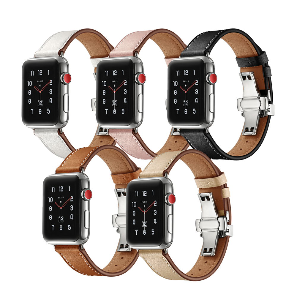 Strap for Apple Watch Band Leather 38mm 42mm Iwatch Series 3 2 1 Genuine Leather Bracelet Wrist Watch Accessories watchband eastar genuine leather bracelet for apple watch band 42mm 38mm iwatch watch accessories for apple watch strap watchband