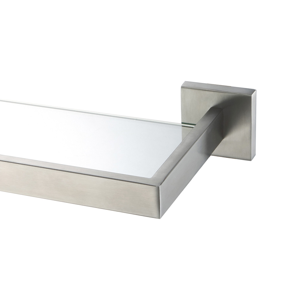 AUSWIND Modern Stainless Steel Silver Brushed Nickel Bathroom Shelf With  Glass Wall Mounted Bathroom Accessories HJ9 In Bathroom Accessories Sets  From Home ...