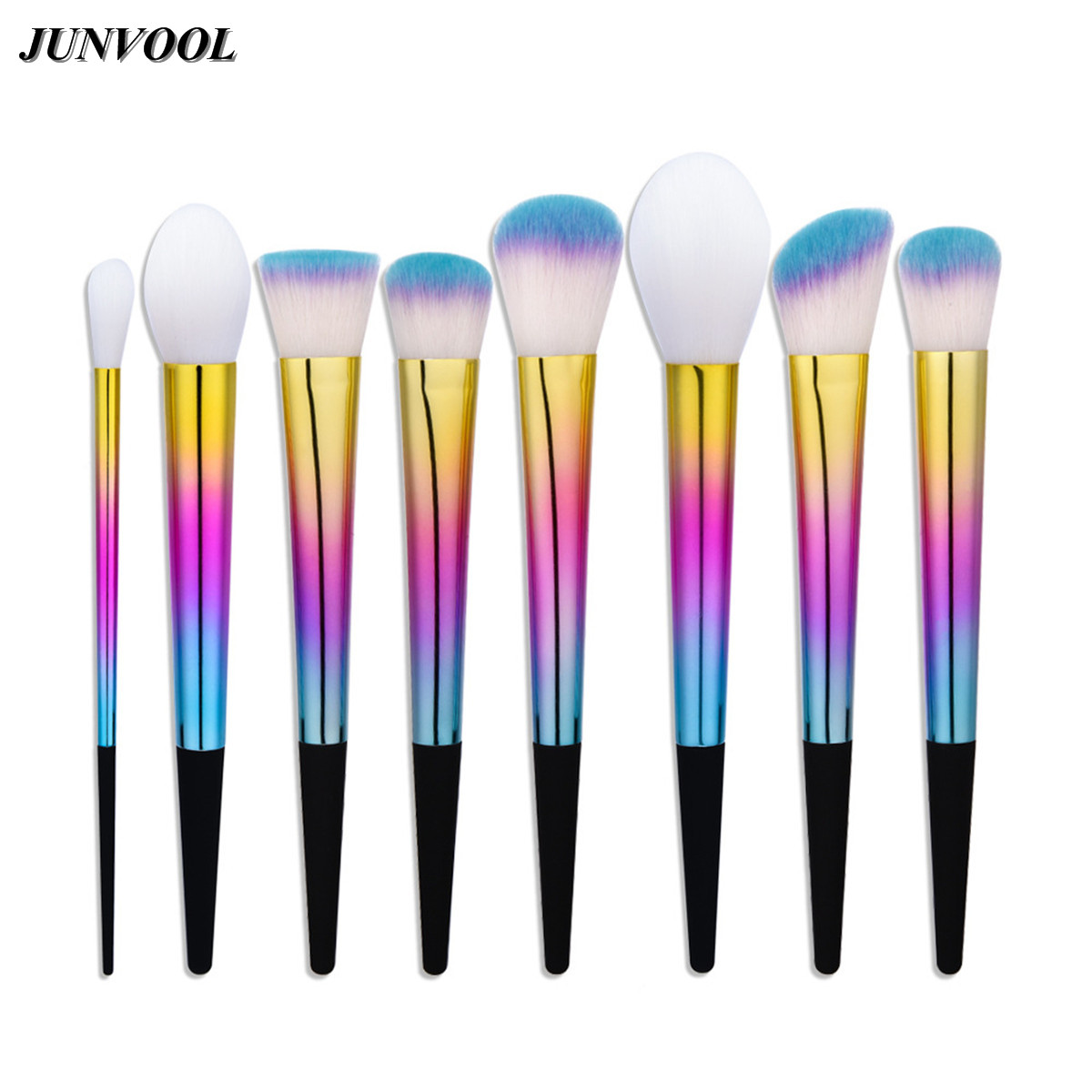 8pcs Make Up Fantasy Foundation Brushes Set Tapered Handle Face Professional Powder Blush Contour Cosmetic Makeup Brush Tools 8pcs rose gold makeup brushes eye shadow powder blush foundation brush 2pc sponge puff make up brushes pincel maquiagem cosmetic