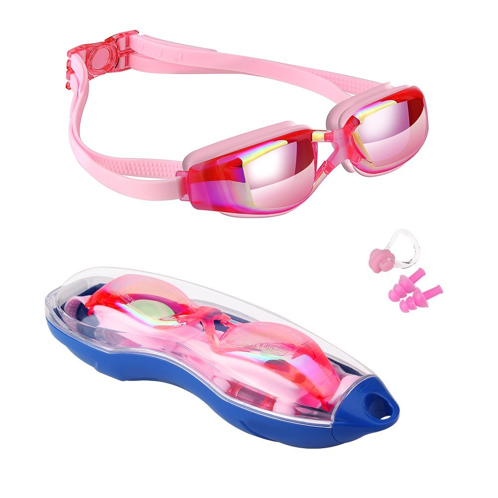 Kids Swimming Anti-Fog UV Protection Prescription Goggles Waterproof Glasses Goggle 8