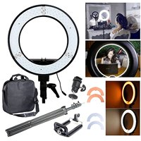 12 35W Dimmable LED Studio Camera Ring Light Photo Phone Video Light Annular Lamp