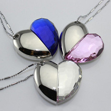 Blue Diamond Heart Style Pendrive 64GB USB Flash Drive 512GB Pen Drive 128GB 16GB Memory Stick Usb Creativo Gadget Luxury Gift