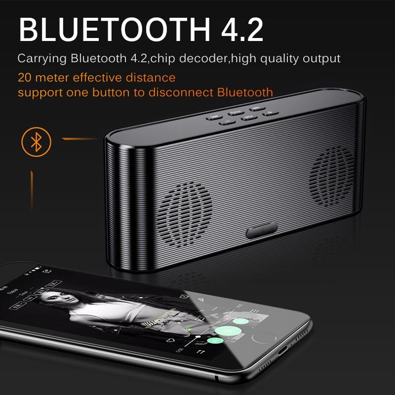 Haut-parleur Bluetooth sans fil Portable Subwoofer lourd 3D stéréo musique Surround maison petit lecteur numérique stéréo avec batterie externe