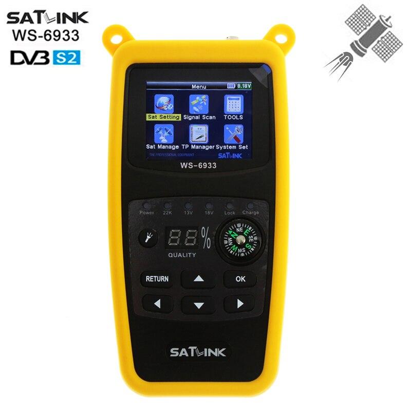 [Genuine] Satlink WS-6933 2.1 Inch LCD Display dvb-s/s2 Digital Satellite Finder Meter FTA C&KU Band 6933 satfinder WS6933 цена и фото