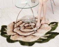 Цветочный прикроватный коврик логотип ковер по индивидуальному заказу шелковые коврики с ворсом для гостиной спальни круглый цветочный ко