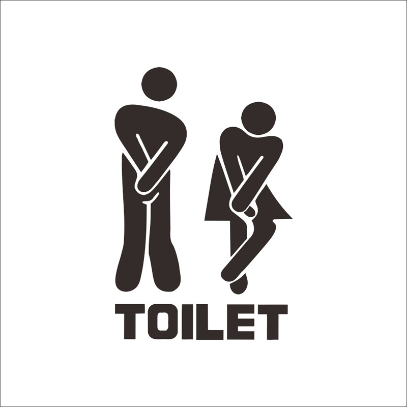 Creative Funny Toilet wall/Door sticker bathroom decoration vinyl home decor decals waterproof poster wall stickers on the wall