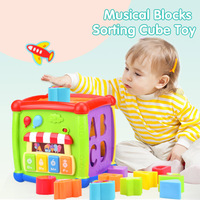Apaffa Plastic Newborn Baby Toys 0 12 Months Musical Mobile Baby Rattles Infant Toys Educational Music Bed Bell Toys For Baby