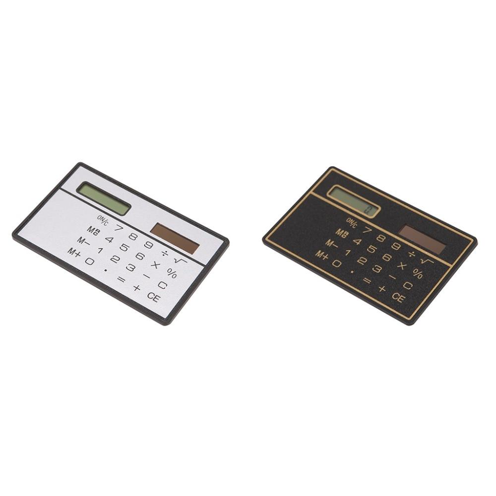 New Ultra Thin Mini Credit Card Sized 8-Digit Solar Powered Pocket Calculator