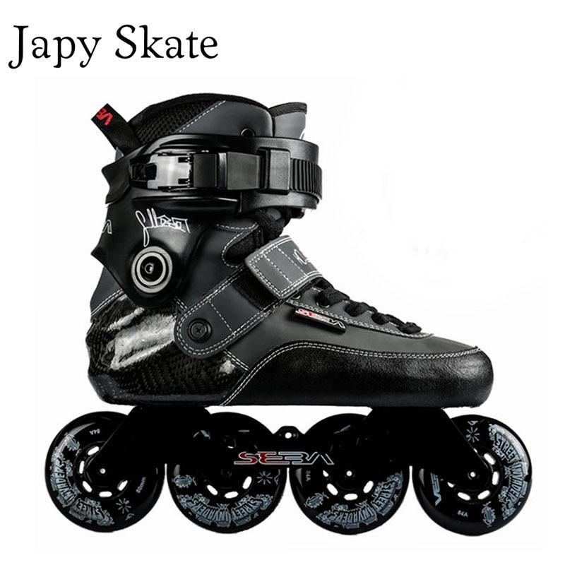 Prix pour Jus japy Skate D'origine SEBA SX Adulte Professionnel Extrême Inline Patins En Fiber De Carbone Rouleau De Patinage Chaussures Livraison De Patinage Patines