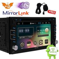 QUAD CORE Double 2 DIN HD Android 6.0 System Car DVD Stereo GPS Touch+Camera