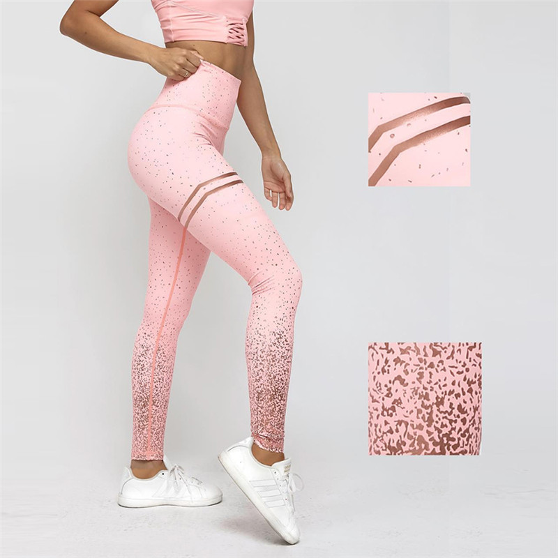 Gym Yoga Pants Sports Wear For Women Professional Running Fitness Sport Leggings Push Up Tights Printed