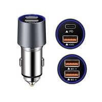 Chargeur de voiture de livraison de puissance 72 W PD QC 3.0 USB type C de charge rapide sûre tablette de téléphone portable portable MP3 GPS charge 1ABF