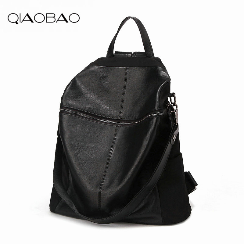 QIAOBAO 2018 HOT New Designed Brand Backpack Fashion Backpack Women leather Backpack qiaobao 2018 hot brand hot sale new fashion buckets women bags 100