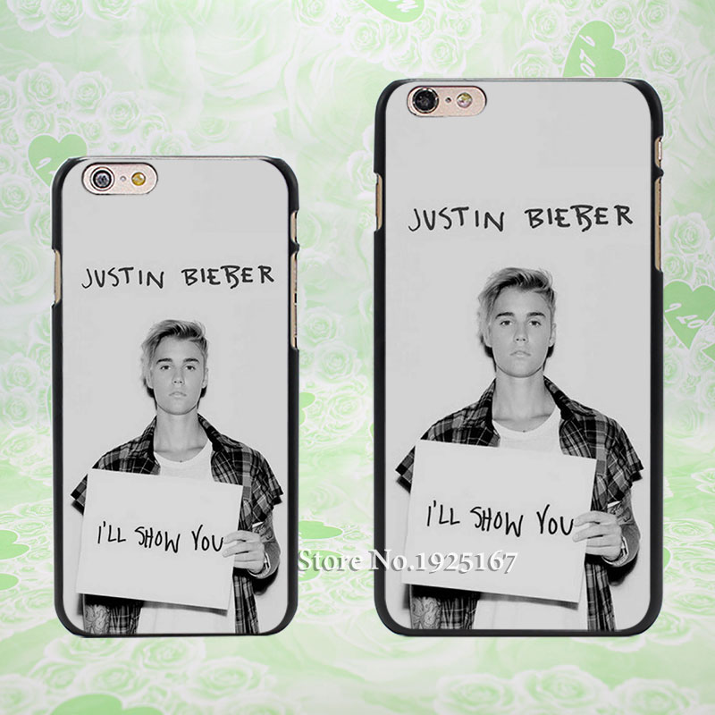 Justin Bieber I will show you Pattern hard black Case Cover for Apple iPhone 4 4s 5 5s 5c 6 6s 6 Plus 6s Plus