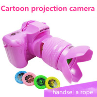 Hot sale Plastic SLR camera 17*8*12CM Baby toy cameras good quality tell story change pictures good gift for kids 2 kinds card