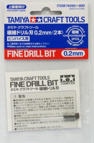 2pcs/bag Tamiya 74090 Model kit Tool Craft Fine Drill Bit 0.2mm for Plastic New