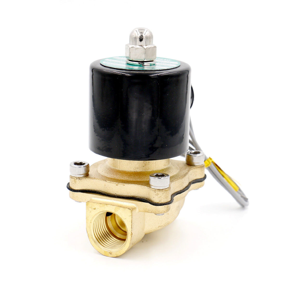 Brass Electric Solenoid Valve 2W-160-15 1/2 Inch NPT for Air Water Valve 12V NC 1 2 built side inlet floating ball valve automatic water level control valve for water tank f water tank water tower