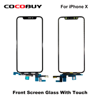Novecel Original Quality LCD Display Touch Screen Front Outer Glass Panel with Flex Cable For iPhone X XS Replacement Parts ORI
